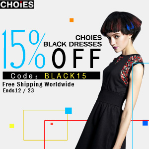 Black Dresses Sale 15% off at Choies. Free shipping worldwide