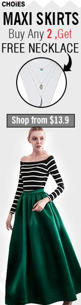 Maxi Skirt Sale:buy 2 maxi skirts,get one free necklace,save $5 for order over $49