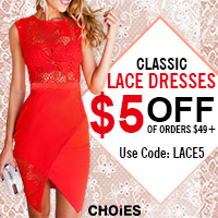 Use Code:LACE5 Get Lace Dresses Here,Up To 50% Off