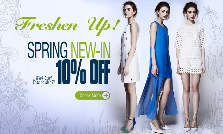 10% OFF for Choies Spring New-in Clothing