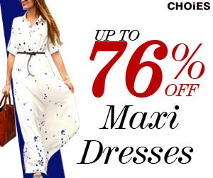 Summer maxi dress up to 76% off