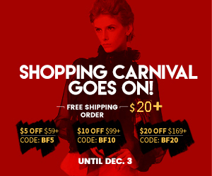 SHOPPING CARNIVAL GOES ON! Grab Deal!NOW or NEVER! Huge Savings: BF5 BF10 BF20 (59-5,99-10,169-20)