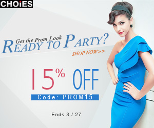 Dress sale 15% off at Choies, free shipping worldwide