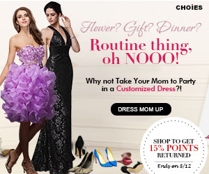 Mothers Day: Dress Mom Up & Get 15% Shopping Points Back to Account