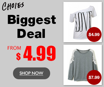 Choies Clearance Just From Only $4.99,Biggest Deal Last Long!