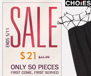Choies Flash Sale Ends on 5/11