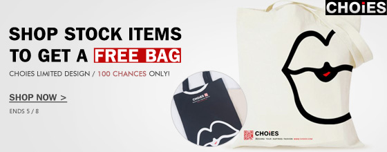 Shop Stock Items To Get A Free Bag from Choies