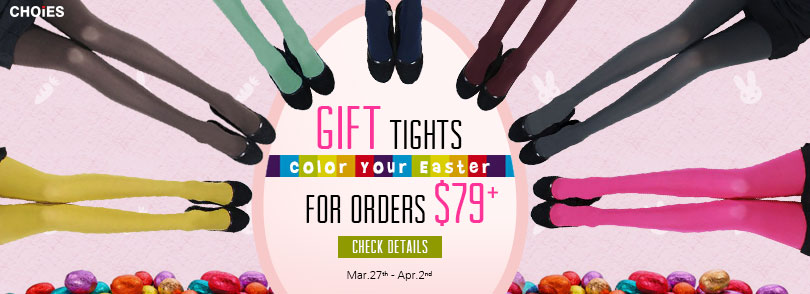 Get Easter Gift Tights for Orders $79+