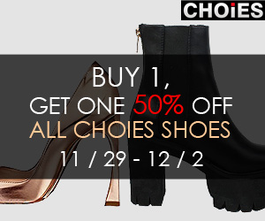 Choies Shoes Sales,buy one get one 50% off. 3 days only. Free shipping