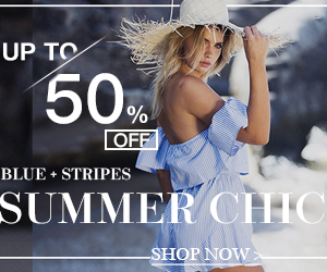 Up to 50% off  Blue Stripes Collection