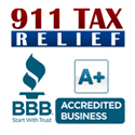 911TaxRelief.com Logo with BBB