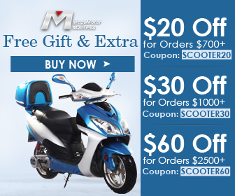 Free Gloves & Extra $20 Off for Orders $700+Coupon: SCOOTER20; $30 Off for Orders $1000+Coupon: SCOOTER30; $60 Off for Orders $2500+Coupon: SCOOTER60 for All Scooters. Buy now!