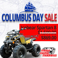 Columbus Day, ATV, Mopeds, Scooters, Trikes, Street Bikes, Dirt Bikes, Kids Toy, Motorcycles, Motorcycle Accessories
