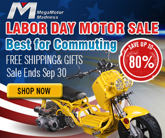 Labor Day Motor Sale, Best for Commuting, Save up to 80%, Free shipping & Gifts, Sale Ends Sep 30, Shop Now