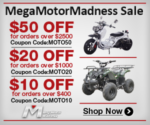 MegaMotorMadness Sale $50 off for order over