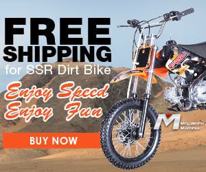 Free Shipping for SSR Dirt Bike! Enjoy Speed, Enjoy Fun! Buy Now!
