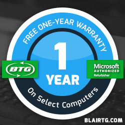Free 1 Year Warranty on                               Select Computers
