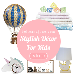 Shop Stylish Decor For Kids at www.belleandjune.com