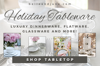 Shop luxury dinnerware, flatware, glassware and more www.belleandjune.com