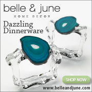 Shop Dazzling Dinnerware for your holiday table at belleandjune.com