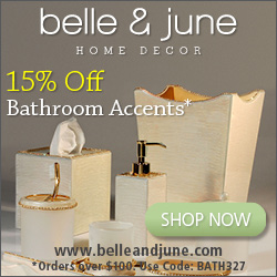 Enjoy 15% all Luxury Bathroom Accents. Orders over $100
