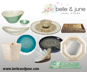 Bring a touch of LUX to your home with Belle and June's truly divine collection of Capiz Home Accents