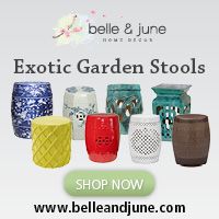 Take Your Home and Garden Décor to a Designer Level With exotic handcrafted garden stools. FREE SHIPPING!