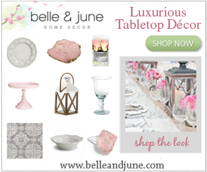 Shop Luxurious Tabletop Decor at www.belleandjune.com