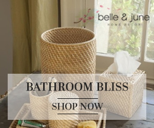 Luxurious Bathroom Decor. Shop belleandjune.com and take 10% off Your First Order
