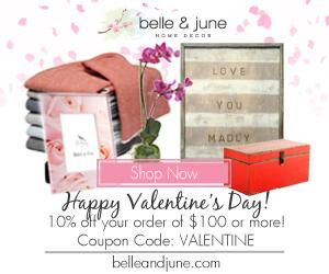 10% off Hundreds of Valentines Day Gift Ideas. Shop www.belleandjune.com