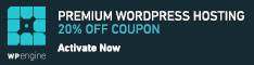 Premium WordPress Hosting - 20% Off Courpon, at WP Engine