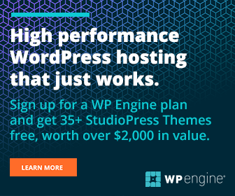 High Performance WordPress hosting that works. Sign up for a WP Engine plan and get 35+ StudioPress Themes free, worth over $2000 in value.