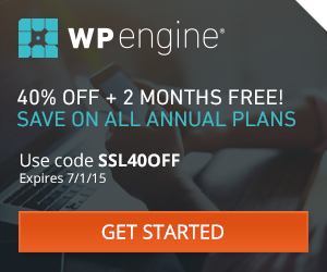 40% Off WP Engine