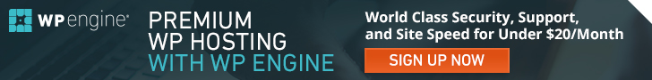 Affiliate ad image for WPEngine Managed WordPress Hosting
