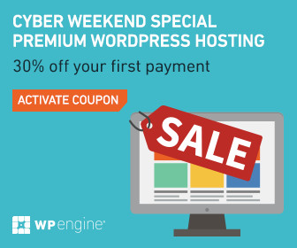 Cyber Weekend Sale - 30% off WP Engine
