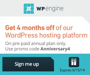 WP Engine Anniversary4 Promotion