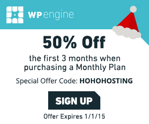 WP Engine 50% off first 3 months