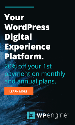 WP Engine WordPress Hosting Outlet Free Delivery Code June 2020