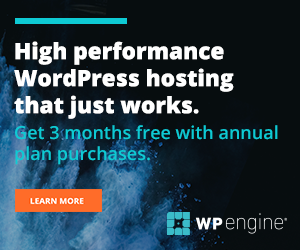 Get 3 Months free with annual WP Engine Purchase