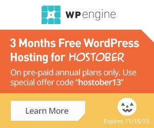 WP Engine hostober13 Special Offer