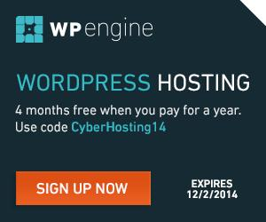 WP Engine CyberHosting14 Special Offer