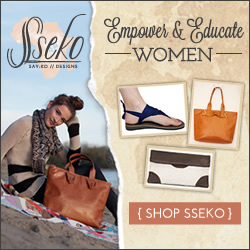 Shop Sseko Designs and empower and educate African women by purchasing handmade sandals, clutches and totes! Click Here