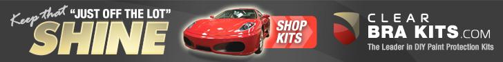 728 x 90 Clear Bra Kits Horizontal Ad
