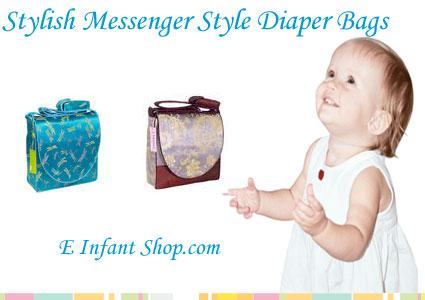 E Infant Shop.com Messenger Style Diaper Bags