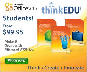 Microsoft Office 2010 student discounts
