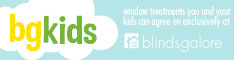 BG Kids is an exciting new line of window treatments for children's rooms, available only at Blindsgalore.