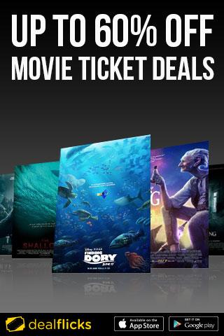 Up To 60% Off Movie Ticket Deals