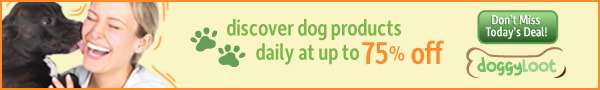 Dog products daily at up to 75% off