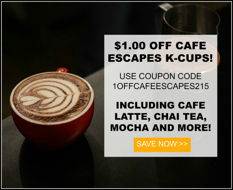 Cafe Escapes Keurig Kcup coffee sale