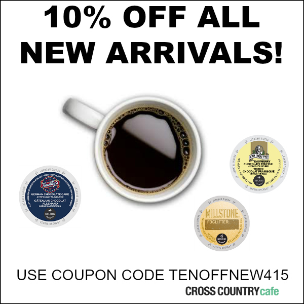 Ten percent off all new Keurig K-cup arrivals!